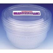  1 Litre Plastic Bowl & Lid (pack&nbsp;quantity&nbsp;4) 