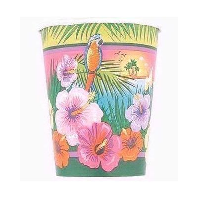 Luau Party 9oz Cups (pack quantity 8)