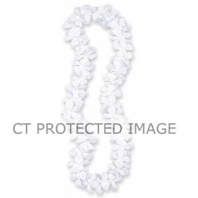 40 Inch White Flower Lei