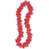 40 Inch Red Flower Lei