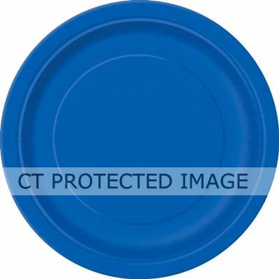 Royal Blue 9 Inch Plates (pack quantity 16)