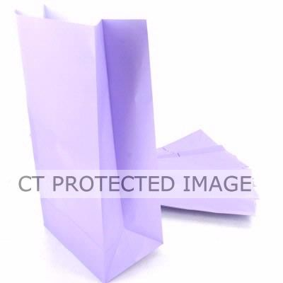  Paper Party Bags Lavender (pack&nbsp;quantity&nbsp;12) 