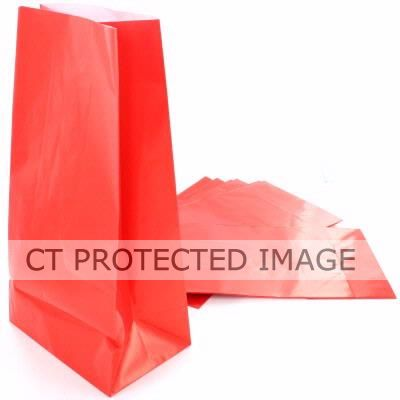 Ruby Red Paper Bags (pack quantity 12)