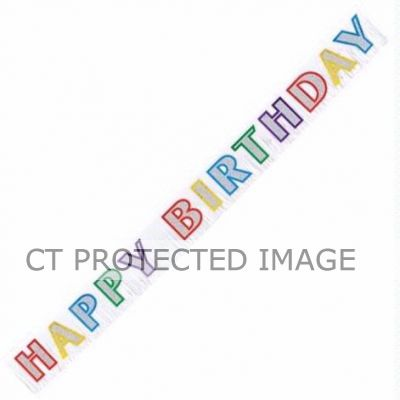 2.7m Birthday Fringe Banner