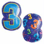 Number 3 18 Inch Foil Balloon