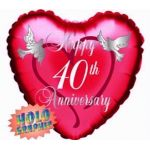 Ruby Anniversary 18 Inch Foil Balloon