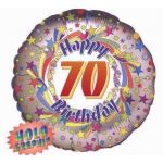 70th Birthday 18 Inch Foil Balloon