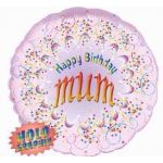 Happy Birthday Mum 18 Foil Balloon