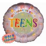 Welcome To Your Teens 18 Inch Foil Balloon