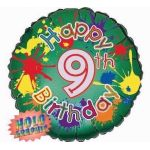 9th Birthday 18 Inch Foil Balloon