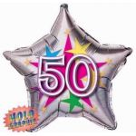 50th Stellar Fun 22 Inch Foil Balloon