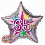 65th Stellar Fun 22 Inch Foil Balloon