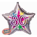 80th Stellar Fun 22 Inch Foil Balloon
