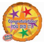 Congratulations You Did It 18 Inch Foil Balloon