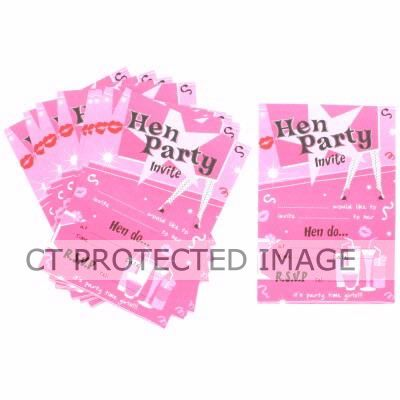  Hen Party Invitations (pack&nbsp;quantity&nbsp;10) 