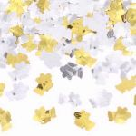Embossed Bells Metallic Confetti