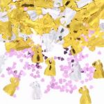 Bride & Groom Metallic Confetti