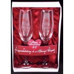 40th Anniversary Champagne Glasses