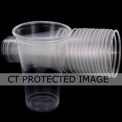 Plastic 1/2pt Glasses (pack quantity 15)