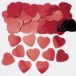 Red Jumbo Hearts Metallic Confetti