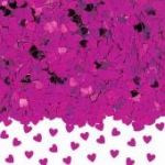 Hot Pink Hearts Metallic Confetti
