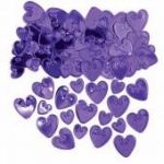 Purple Hearts Metallic Confetti