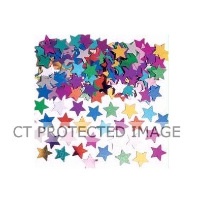 Assorted Stars Metallic Confetti