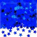 Blue Stars Metallic Confetti