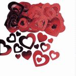 Red Hollow  Heart Metallic Confetti