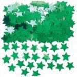 Green Stars Metallic Confetti
