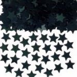 Black Stars Metallic Confetti