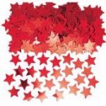 Red Stars Metallic Confetti