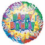 Happy Birthday 18 Inch Foil Balloon