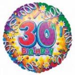 30th Birthday 18 Inch Foil Balloon