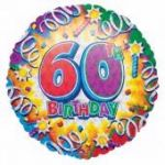 60th Birthday 18 Inch Foil Balloon