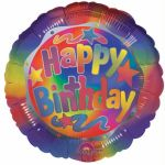 Happy Birthday Bright 18 Inch Foil Balloon