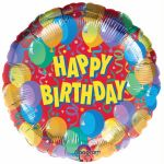 Birthday Celebration 18 Inch Foil Balloon
