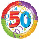50th Birthday 18 Inch Foil Balloon