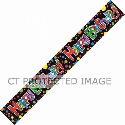 Multi Colours Birthday 9ft Banner
