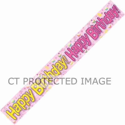 Birthday Pink Cakes 9ft Banner