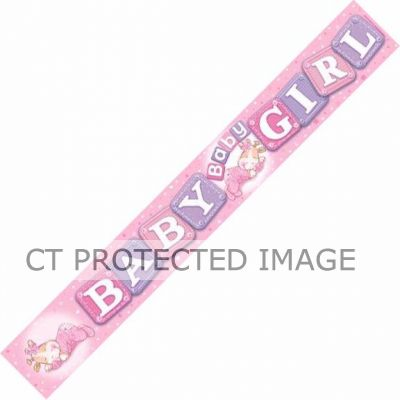 Baby Girl 9ft Banner