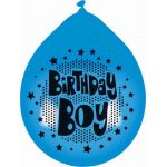  10 Inch Birthday Boy Balloons (pack&nbsp;quantity&nbsp;10) 
