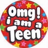 Teenager Trouble Big Badge