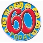 Age 60 Smileys Big Badge