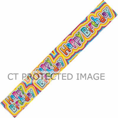 Birthday Rainbow 9ft Banner