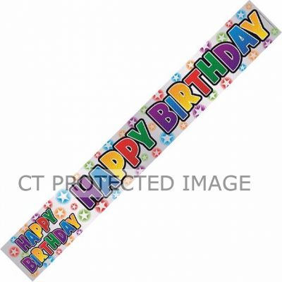 Birthday Letters 9ft Banner