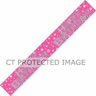 Birthday Girl Sparkle 9ft Banner