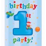 Fun At 1 Boy Invitations (pack quantity 8)