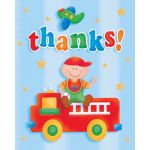Fun At 1 Boy Thank You Cards (pack quantity 8)