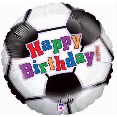 Soccer Birthday 18 Inch Foil Balloon